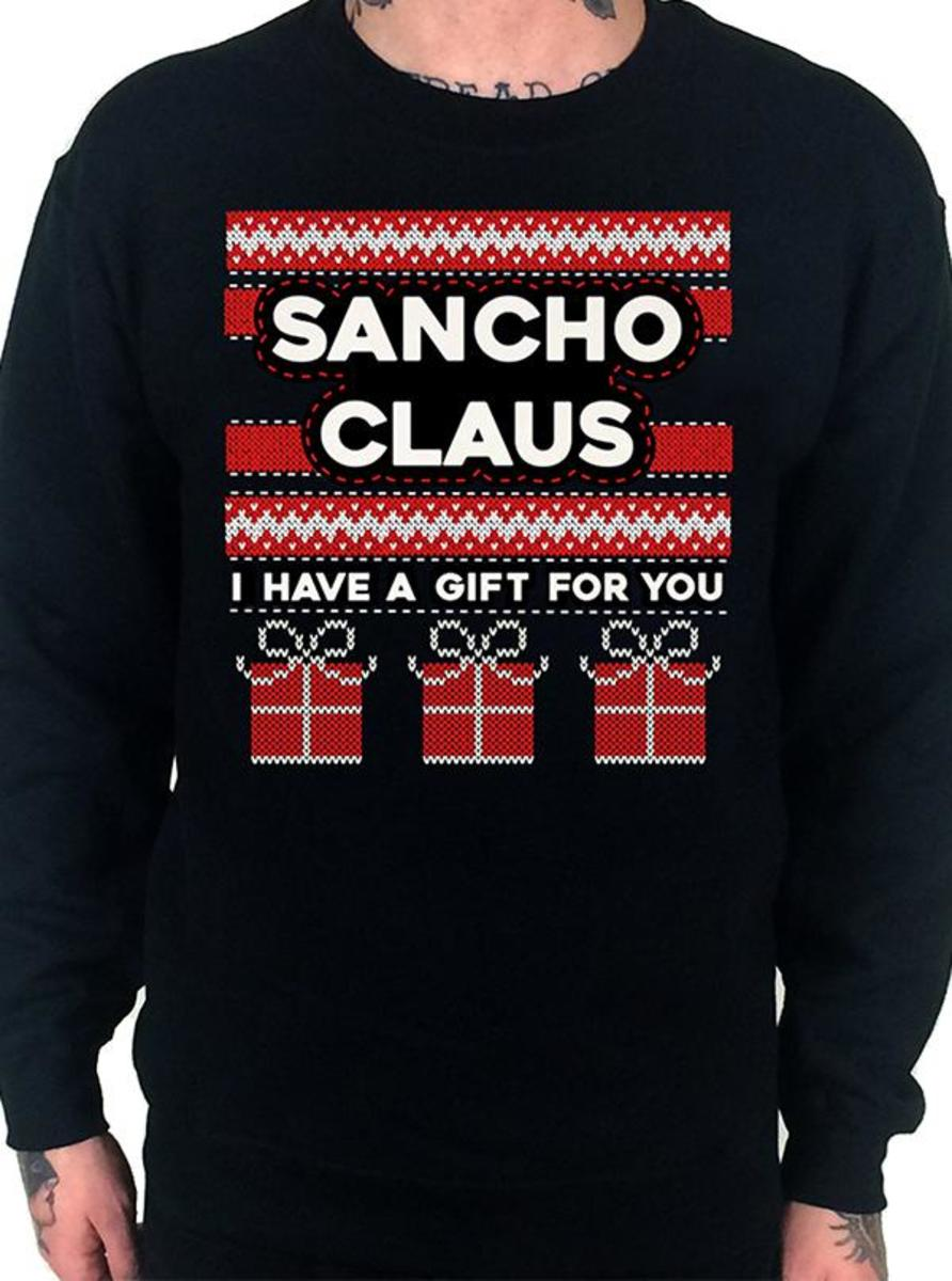 "MEN'S ""SANCHO CLAUS"" UGLY CHRISTMAS SWEATSHIRT BY CARTEL INK"