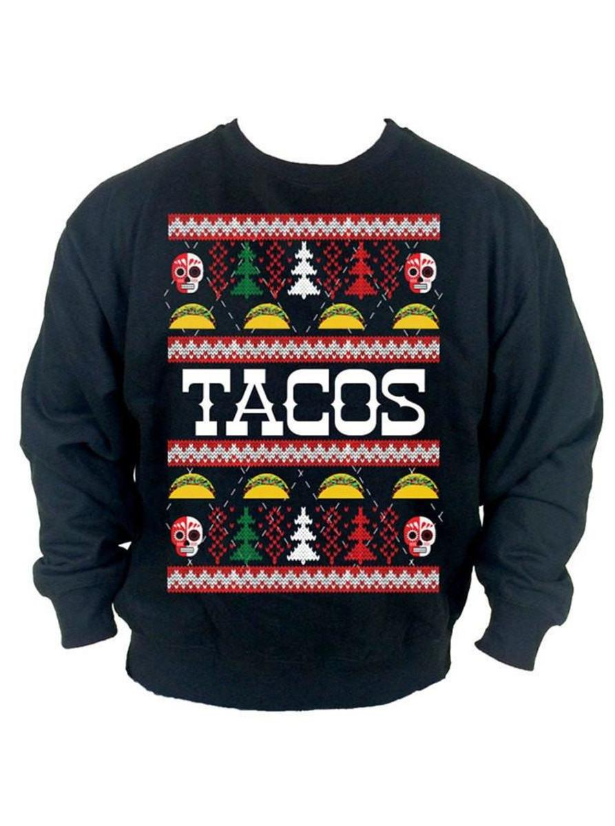 "MEN'S ""TACO"" UGLY CHRISTMAS SWEATER BY CARTEL INK"