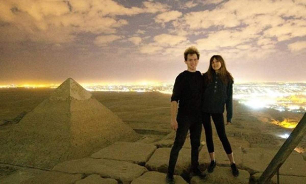 Andreas Hvid, Andreas Hvid Photography, Danish Photographer, Couple Naked on top of the great pyramid, couple have sex on egyptian pyramids, pyramids of Giza, The Great Pyramid of Giza, inked mag