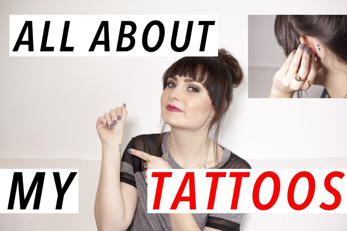 Photo Description: YouTuber Molly Burke's 'All About My Tattoos' Thumbnail