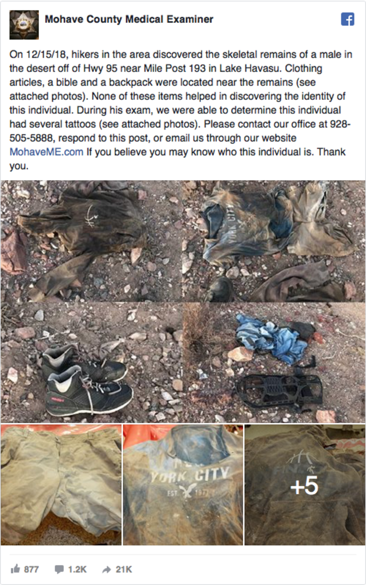 Lake Havasu City, Lake Havasu, arizona desert, Mohave County Sheriff, Mohave County, Tattoos Remain on Decomposed Body, Decomposed Body Found in Arizona Desert, Decomposed Body Found in Desert, tattoo remains, tattoos post-death, Mohave County Medical Examiner, Hwy 95 Mile Post 193, arizona crime