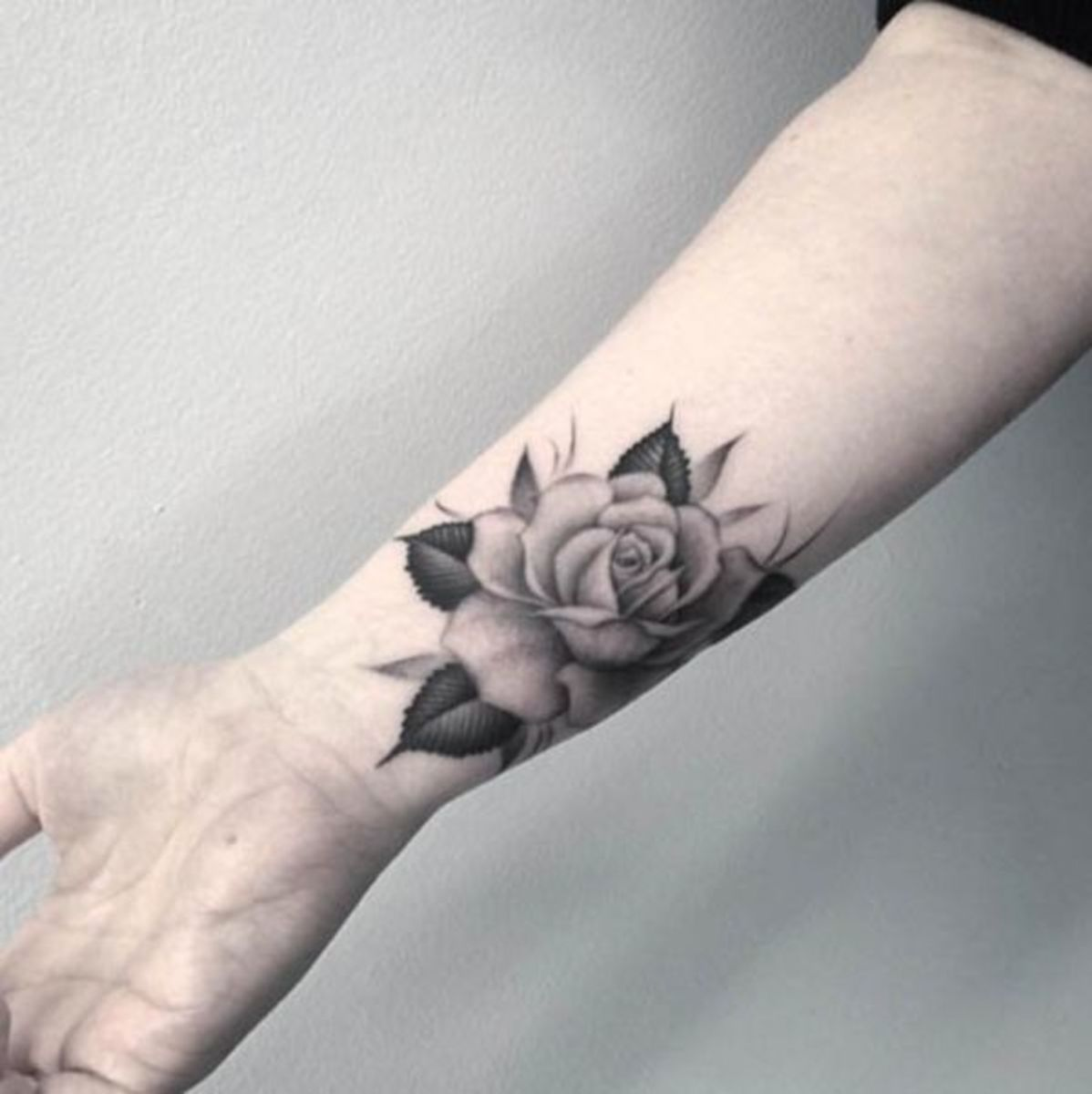 Compared to many other parts of the body, the wrist is not a bad spot for a first tattoo. The skin is thinner on the wrist which makes it hurt a little bit more than some places, but because the wrist is smaller it will be a relatively quick process. It tends to hurt more the closer you get to your hand, so if you are still nervous try asking your artist if your design can be moved up slightly. Pain Rating: 5 out of 10.