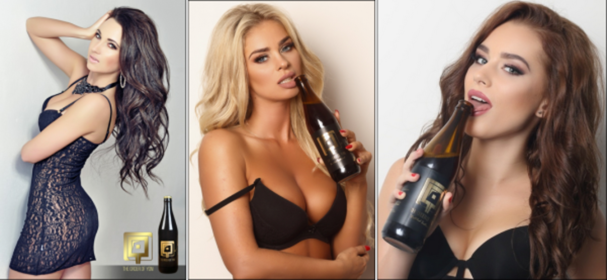 The first batch of beer being made includes the lactic acid bacteria from the vaginas of Czech models, Alexandra Brendlova, Monika and Paulina.
