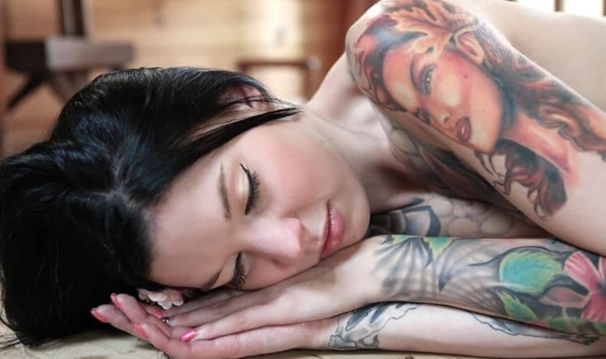 Sleeping-with-new-tattoo-1