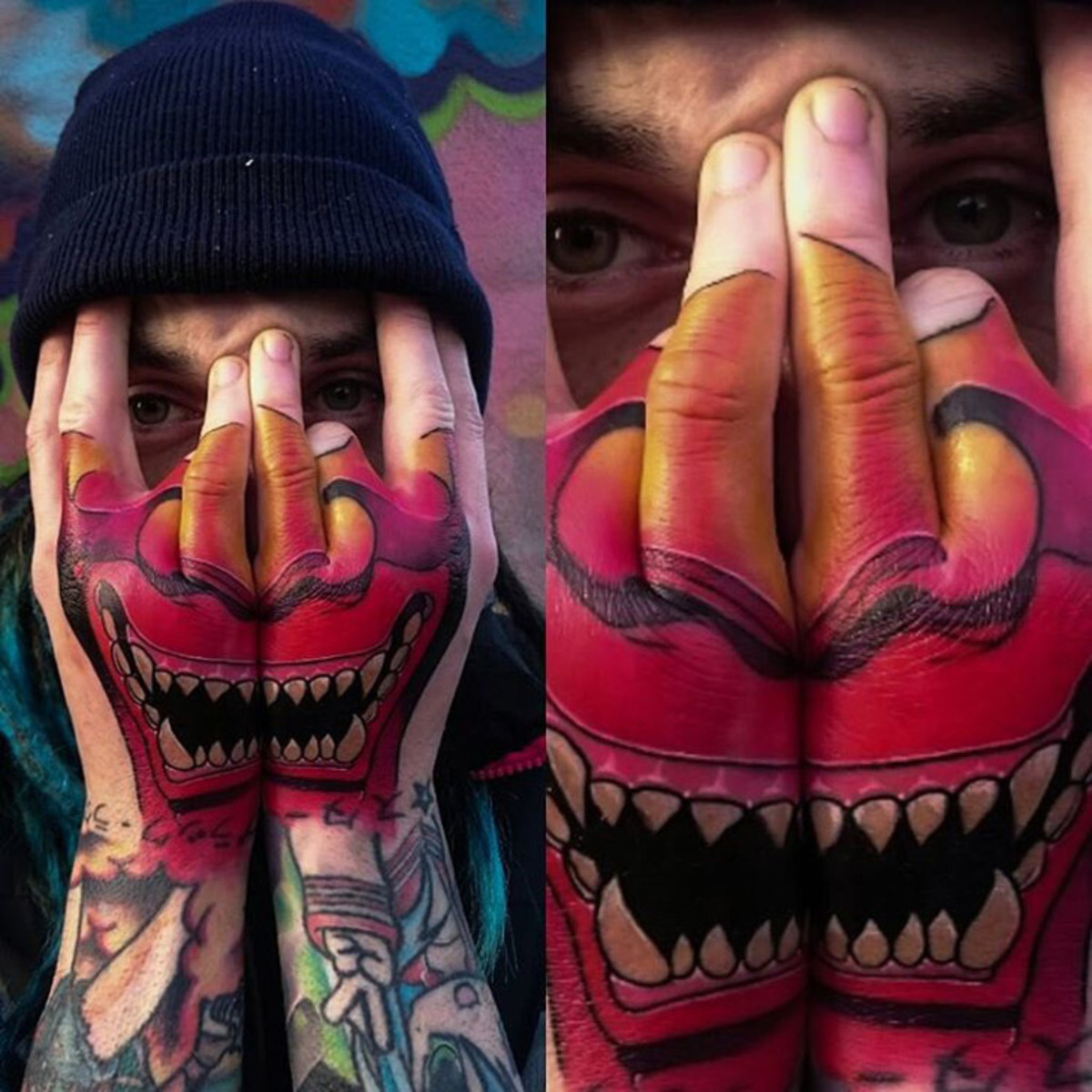 Hannya-hand-tattoo