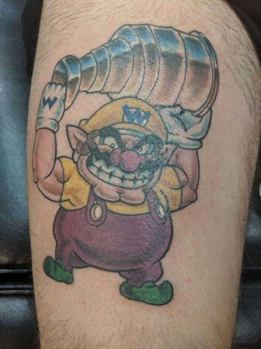Tommy Savarie's Wario Tattoo for Capitals' Stanley Cup win