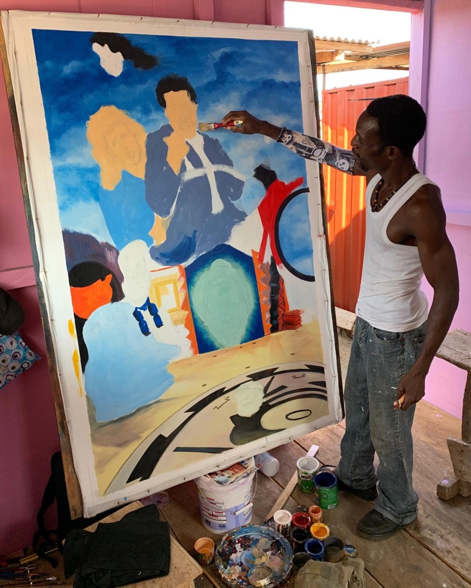 Stoger working in his studio. Courtesy of Brian Chankin