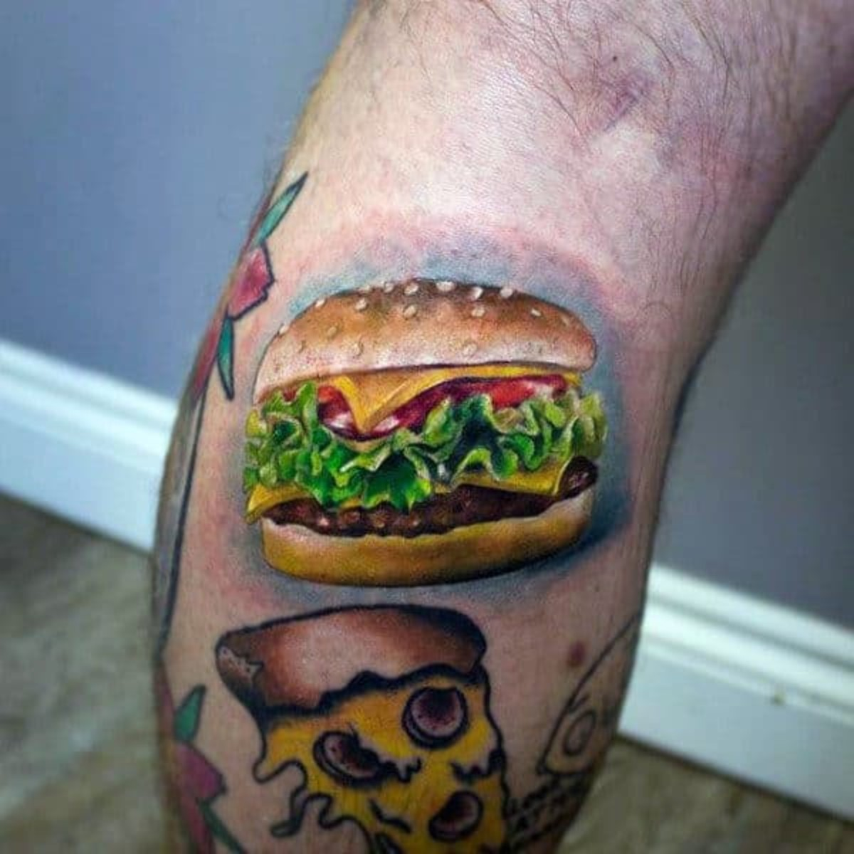 This guy's got it all—cheeseburger, pizza, Stewie...
