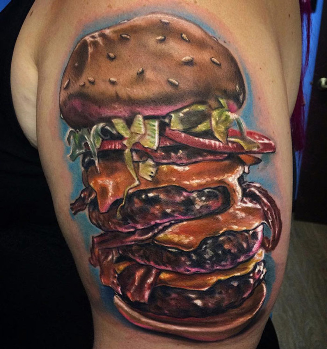 How many calories do you think would be in this guy buster by Johnny Smith.