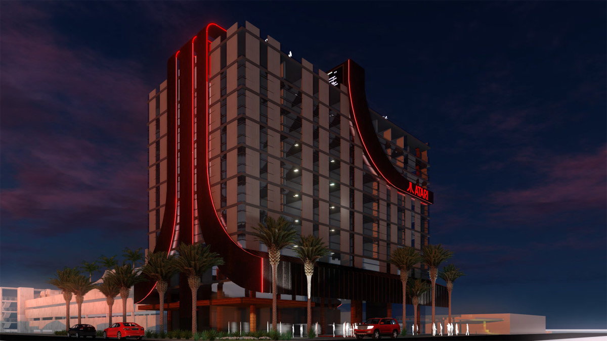 A vision of what the hotel will look like.