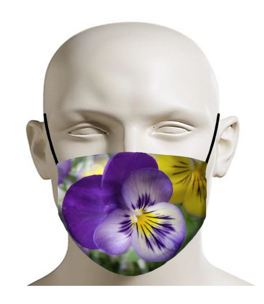 Purple Violet Face Mask. Available at Inked Shop.