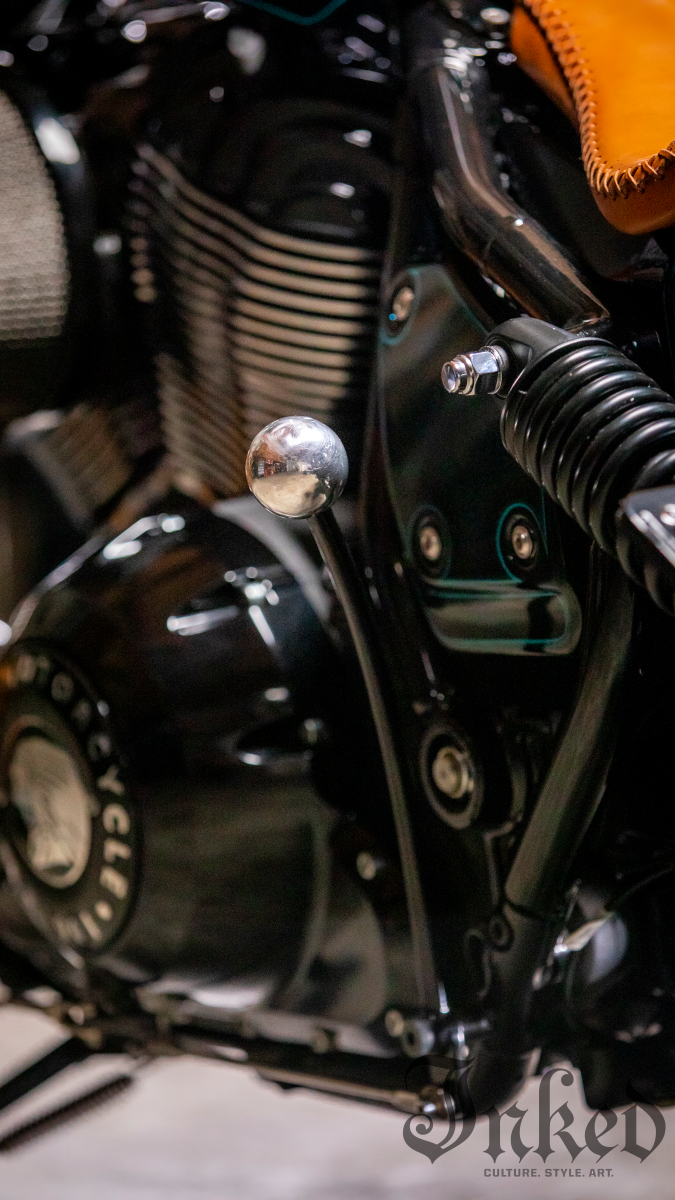 The aforementioned hand clutch.Photo courtesy of Indian Motorcycle